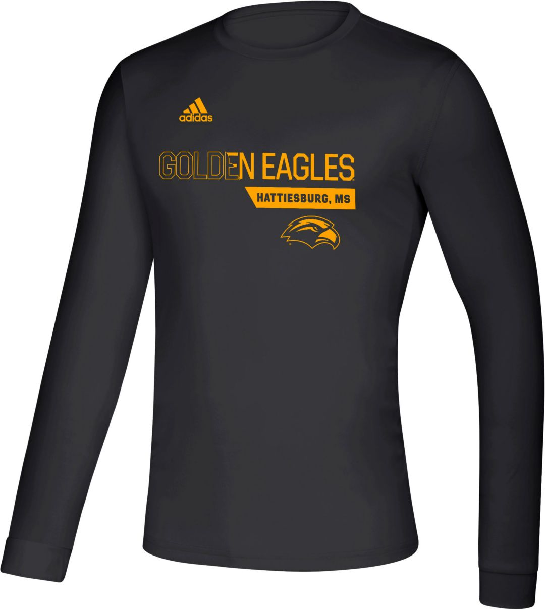 differently 4c089 1fe26 adidas Men's Southern Miss Golden Eagles Creator Long Sleeve Black T-Shirt