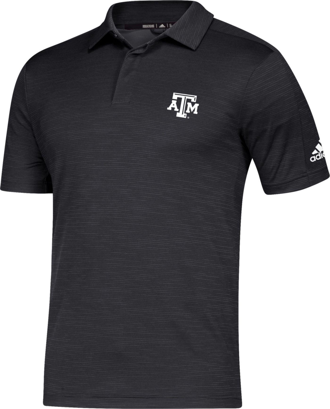 adidas Men's Texas A&M Aggies Game Mode Sideline Black Polo