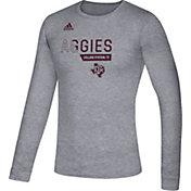 adidas Men's Texas A&M Aggies Grey Locker Football Long Sleeve T-Shirt