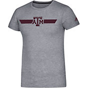 adidas Men's Texas A&M Aggies Grey Locker Stripe Sideline T-Shirt