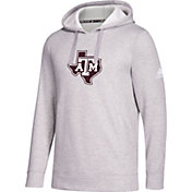 adidas Men's Texas A&M Aggies Grey Logo Fleece Pullover Hoodie