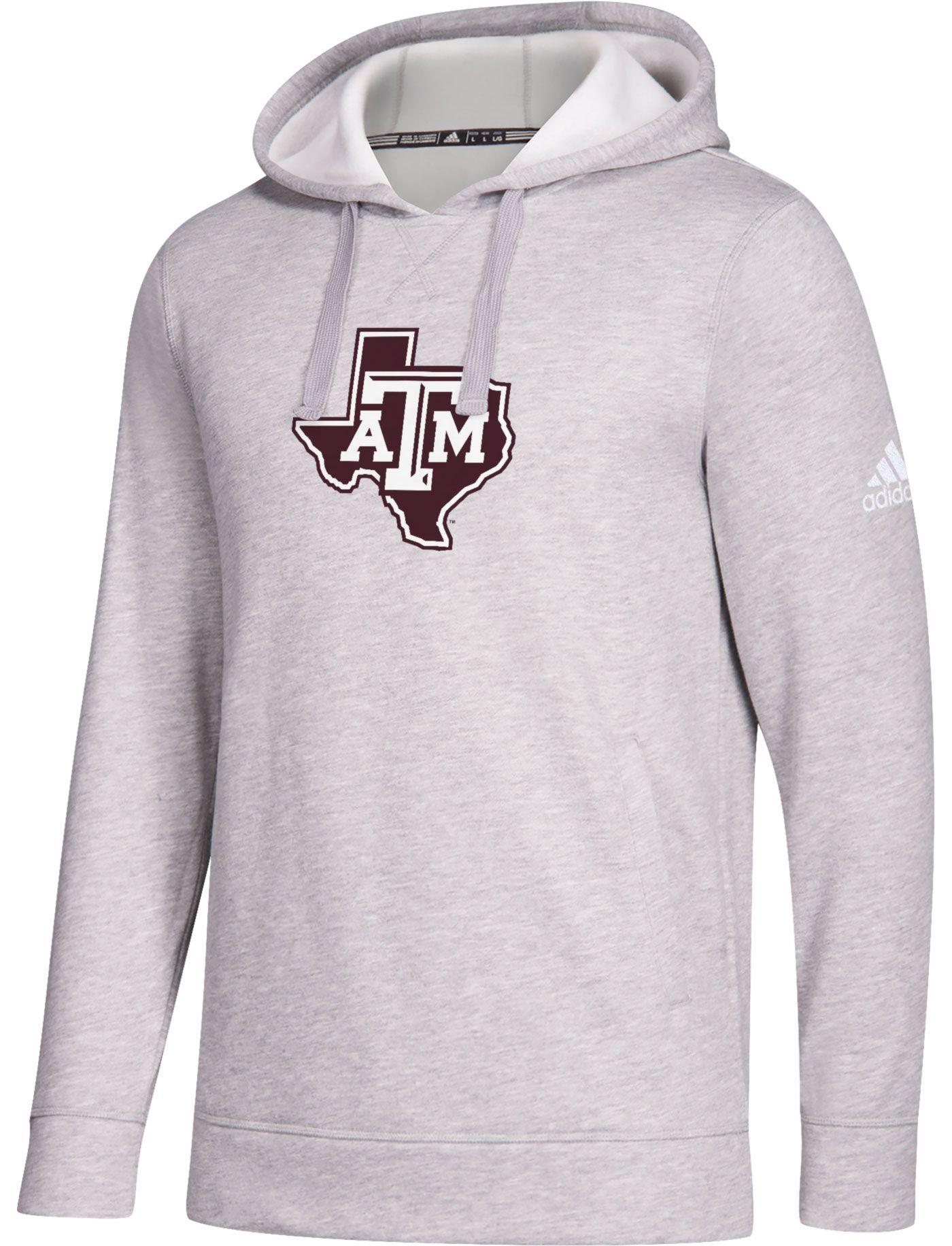 adidas Men's Texas A&M Aggies Grey Logo Fleece Pullover Hoodie