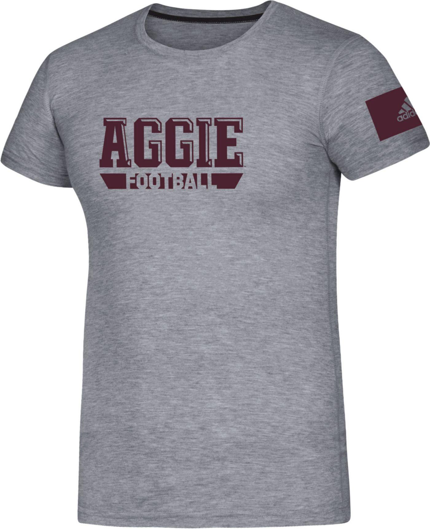 adidas Men's Texas A&M Aggies Grey Locker Practice Football T-Shirt