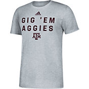 adidas Men's Texas A&M Aggies Grey Slogan T-Shirt