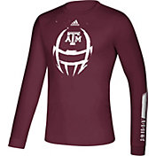 adidas Men's Texas A&M Aggies Maroon Locker Football Long Sleeve T-Shirt