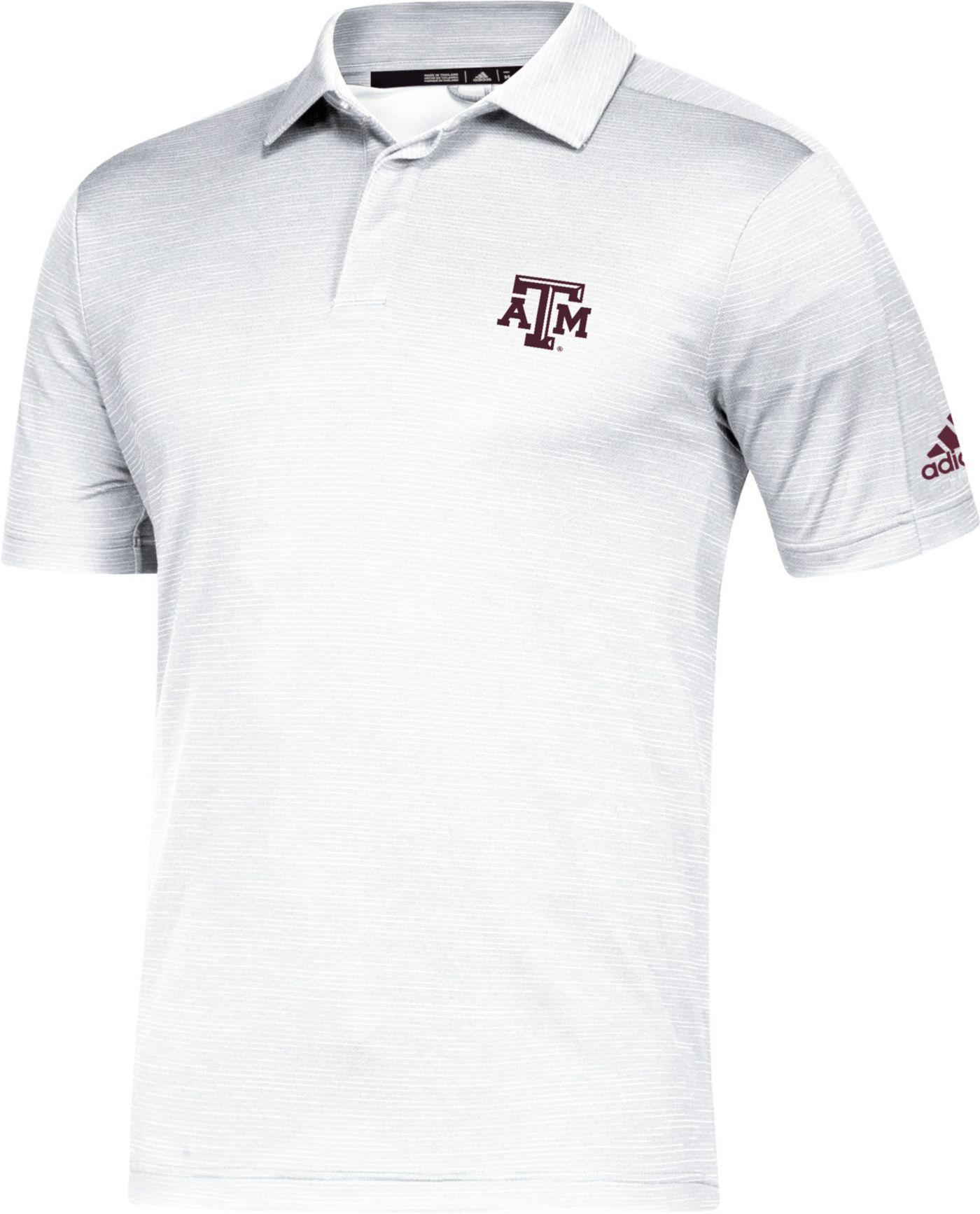 adidas Men's Texas A&M Aggies Game Mode Sideline White Polo