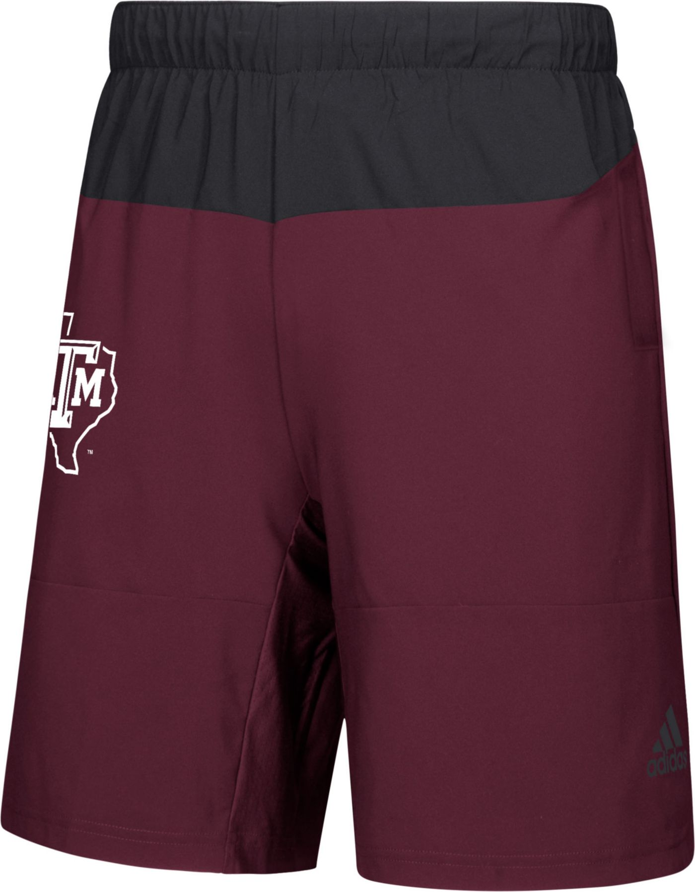 adidas Men's Texas A&M Aggies Maroon Sideline Game Mode Woven Shorts
