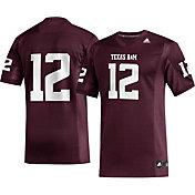adidas Men's Texas A&M Aggies #12 Maroon Replica Football Jersey