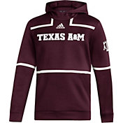 adidas Men's Texas A&M Aggies Maroon Under The Lights Sideline Pullover Hoodie