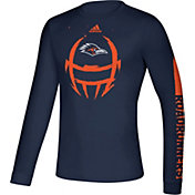 adidas Men's UT San Antonio Roadrunners Blue Locker Football Long Sleeve T-Shirt
