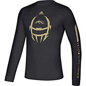 adidas Men's Western Michigan Broncos Locker Football Long Sleeve Black T-Shirt