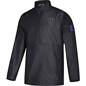 adidas Men's Washington Huskies Game Mode Woven Sideline Quarter-Zip Black Shirt