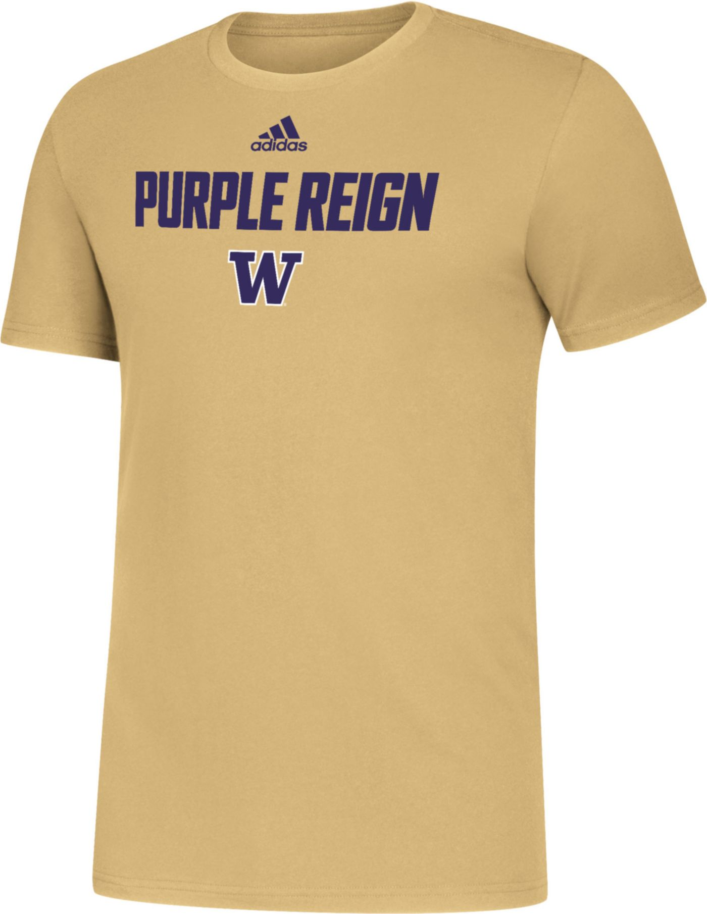 adidas Men's Washington Huskies Gold Slogan T-Shirt