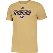 adidas Men's Washington Huskies Gold Sideline Locker Stacked T-Shirt