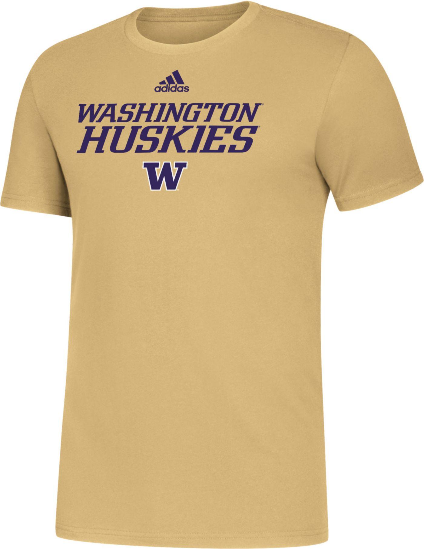 adidas Men's Washington Huskies Gold Sideline Locker Stacked T-Shirt