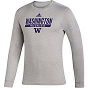 adidas Men's Washington Huskies Grey Creator Performance Long Sleeve T-Shirt