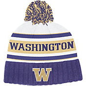 adidas Men's Washington Huskies Purple Cuffed Pom Knit Beanie