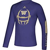 adidas Men's Washington Huskies Purple Locker Football Long Sleeve T-Shirt