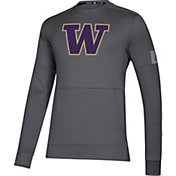 adidas Men's Washington Huskies Grey Game Mode Crew Sideline Sweatshirt