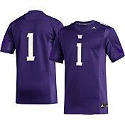 adidas Men's Washington Huskies #1 Purple Replica Football Jersey