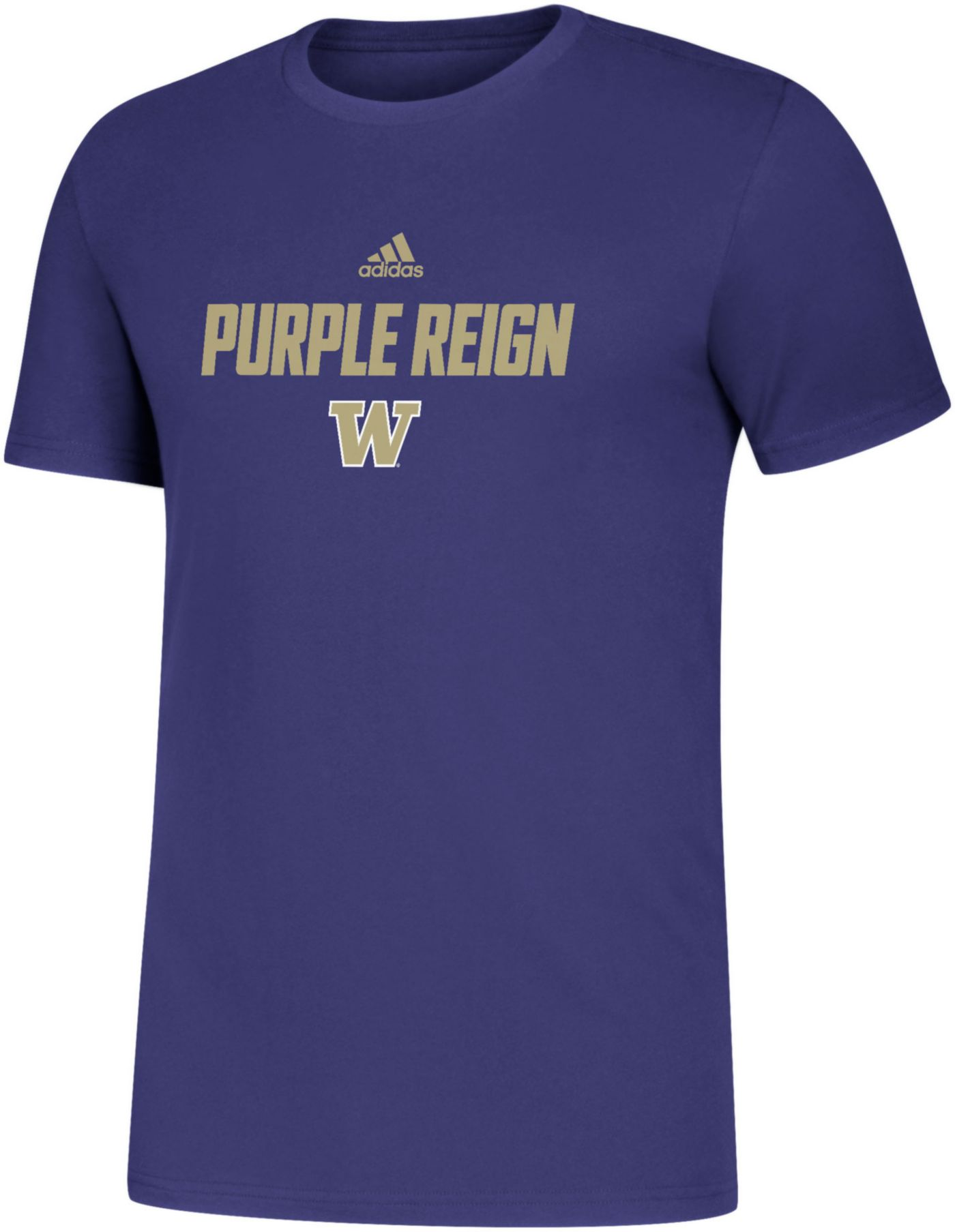 adidas Men's Washington Huskies Purple Slogan T-Shirt