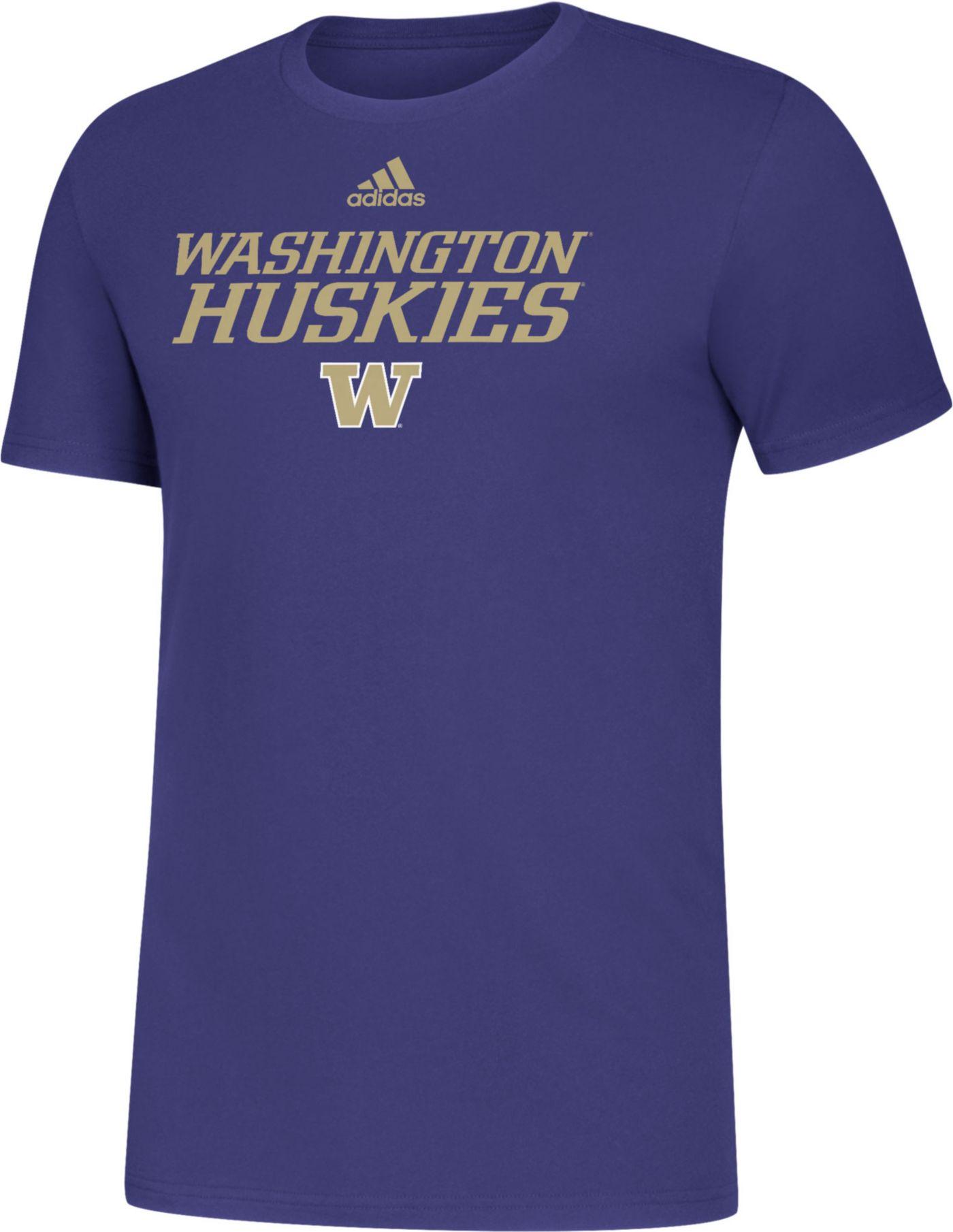 adidas Men's Washington Huskies Purple Sideline Locker Stacked T-Shirt