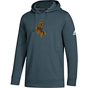adidas Men's Wyoming Cowboys Green Logo Fleece Pullover Hoodie
