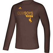 adidas Men's Wyoming Cowboys Brown Creator Long Sleeve T-Shirt