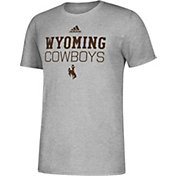 adidas Men's Wyoming Cowboys Grey Amplifier Performance T-Shirt