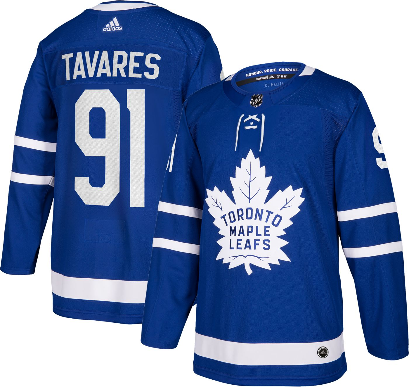 adidas Men's Toronto Maple Leafs John Taveras #91 Authentic Pro Home Jersey