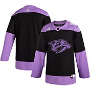adidas Men's Nashville Predators Hockey Fights Cancer Authentic Pro Jersey