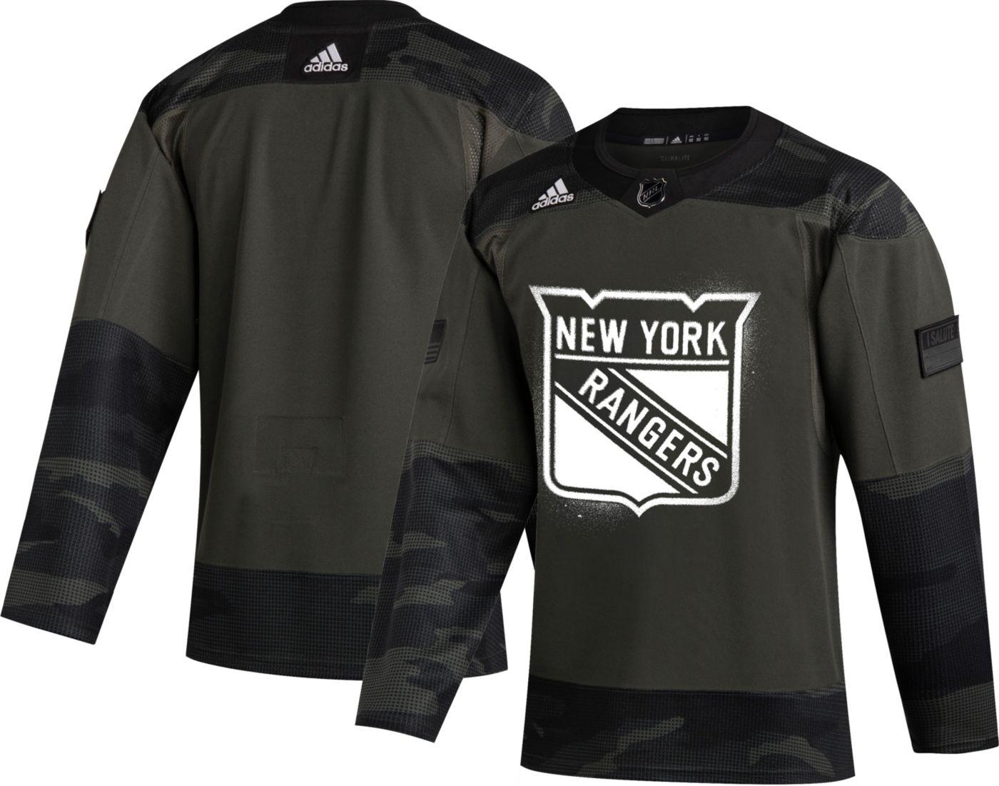 adidas Men's New York Rangers Camo Authentic Pro Jersey
