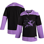 adidas Men's San Jose Sharks Hockey Fights Cancer Authentic Pro Jersey