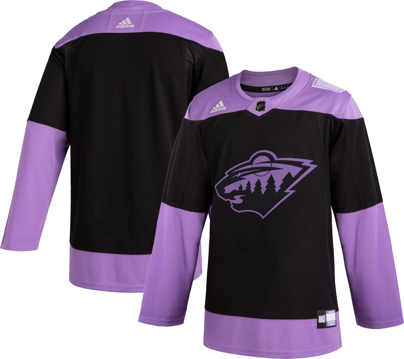 adidas Men's Minnesota Wild Hockey Fights Cancer Authentic Pro Jersey