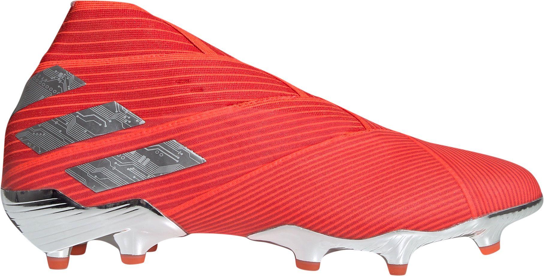 adidas Men's Nemeziz 19+ FG Soccer Cleats, Size: 13.0, Red