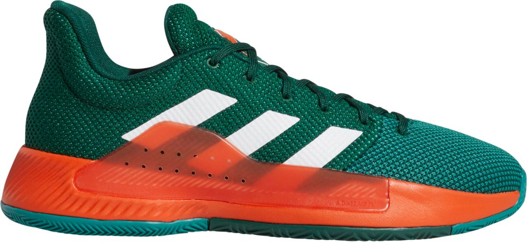 9afecfd9e adidas Men s Pro Bounce Madness Low 2019 Miami Hurricanes Basketball Shoes 1