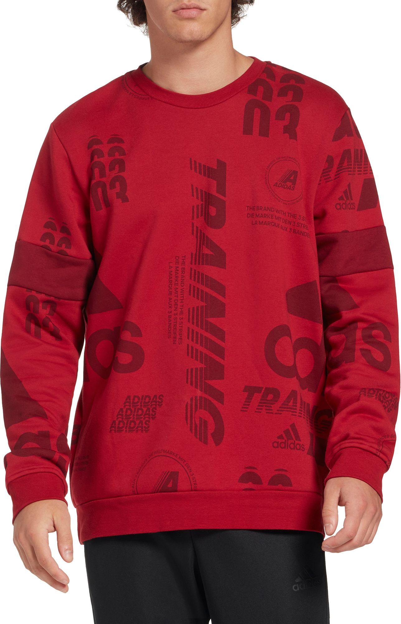 Adidas Sweatshirt Men's Crewneck Allover Post Game Print kTOiPXZu