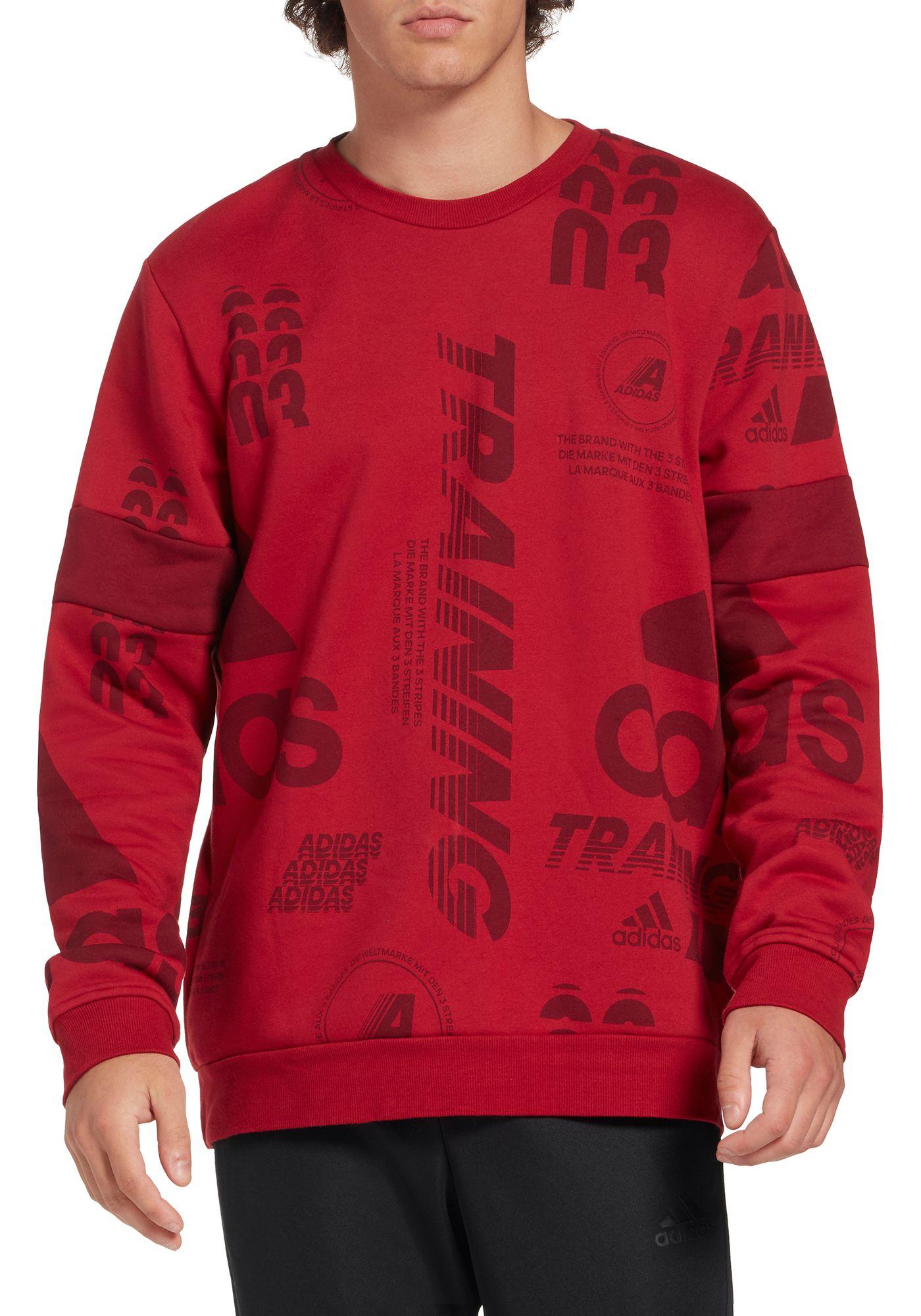 adidas Men's Post Game Allover Print Crewneck Sweatshirt