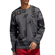 adidas Men's Post Game Allover Print Crewneck Sweatshirt