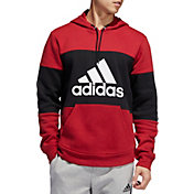 adidas Men's Post Game Fleece Badge Of Sport Graphic Hoodie