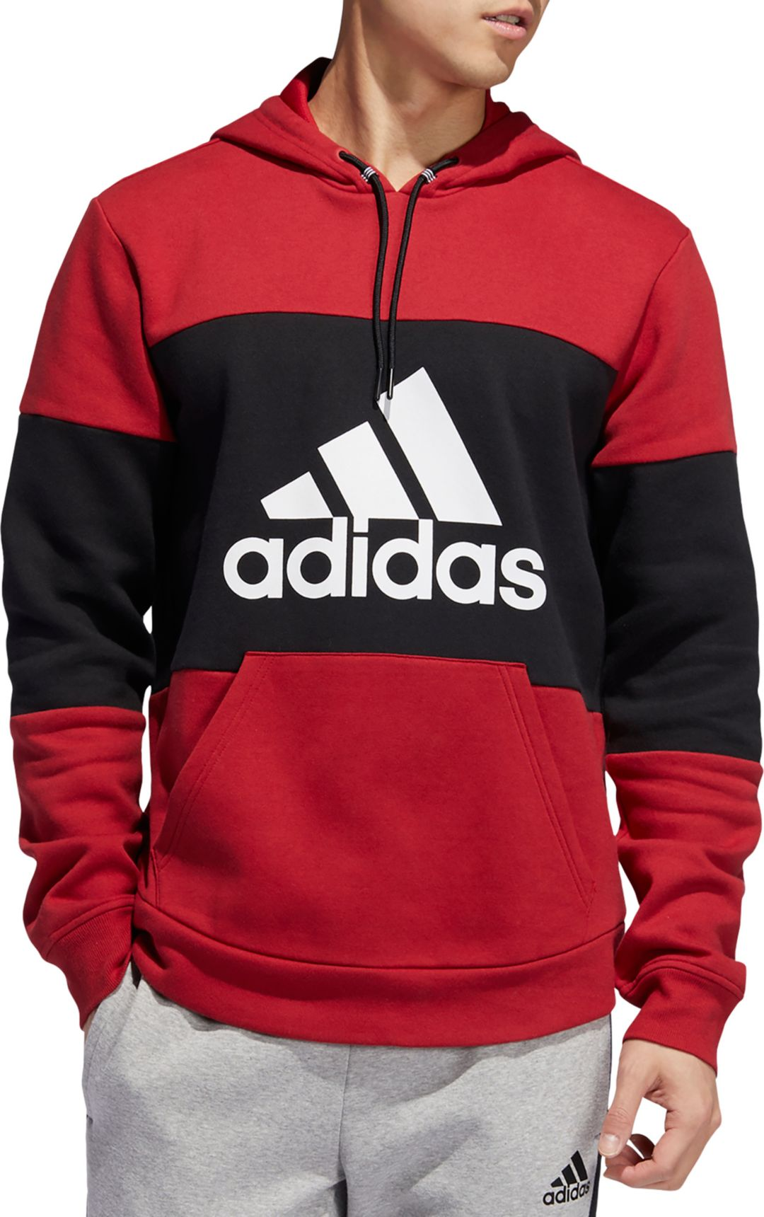 large discount later new photos adidas Men's Post Game Fleece Badge Of Sport Graphic Hoodie