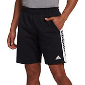 adidas Men's Post Game Fleece Shorts in Black/White