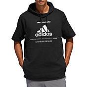 adidas Men's Post Game Ribbed Short Sleeve Hoodie