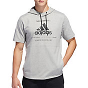 adidas Men's Post Game Ribbed Short Sleeve Hoodie