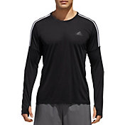 adidas Men's 3-Stripes Running Long Sleeve Shirt