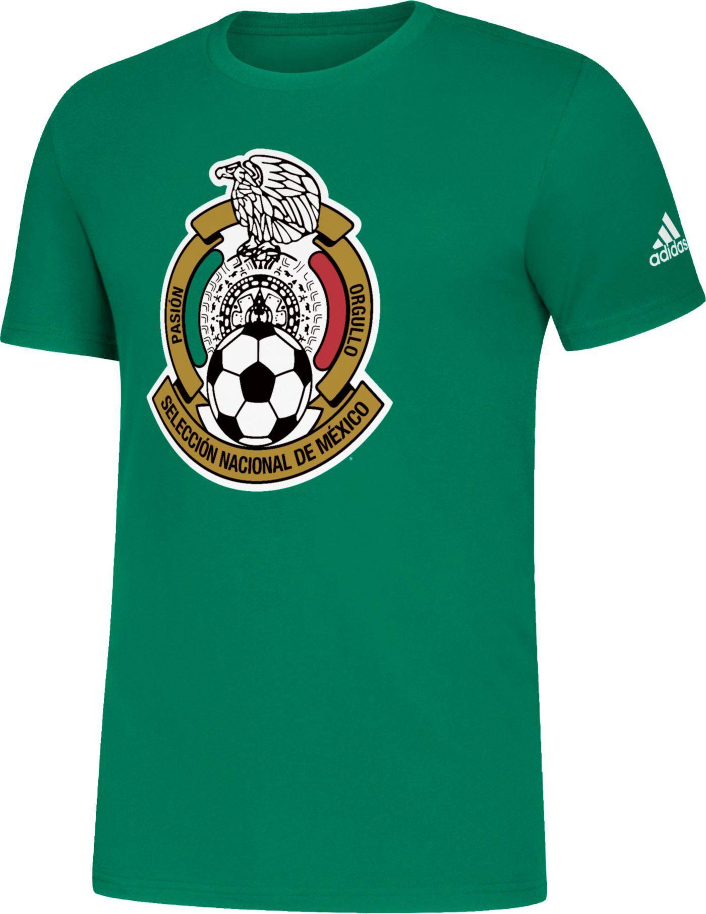 adidas Men's Mexico Logo Green T-Shirt