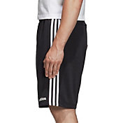 adidas Men's Essentials 3-Stripes French Terry Shorts in Black/White