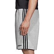 adidas Men's Essentials 3-Stripes French Terry Shorts in MGH/Black