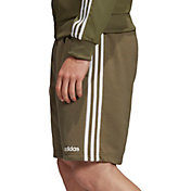 adidas Men's Essentials 3-Stripes French Terry Shorts in Raw Khaki