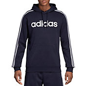 adidas Men's Essentials 3-Stripes  Pullover Hoodie